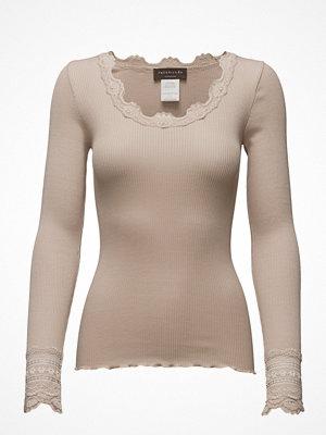 Rosemunde Silk T-Shirt Regular Ls W/Wide Lace