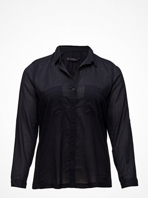 Violeta by Mango Ribbed Panel Shirt