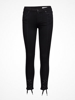 Jeans - 2nd One Nicole 002 Tie, Satin Black, Jeans