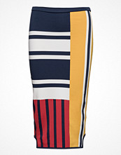 Kjolar - Tommy Hilfiger Viscose Patchwork Pencil Skirt Gigi Hadid