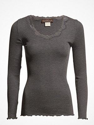 Rosemunde Silk T-Shirt Regular Ls W/Rev Vinta