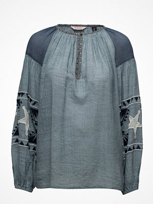 Scotch & Soda Sheer Cotton Tunic Top With Special Embroideries