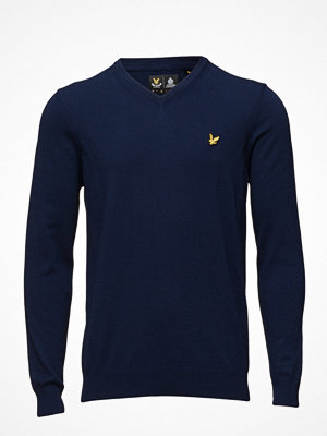 Lyle & Scott V Neck Cotton Merino Jumper