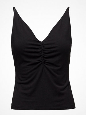 T By Alexander Wang Micro Modal Spandex Shirred Front Camisole