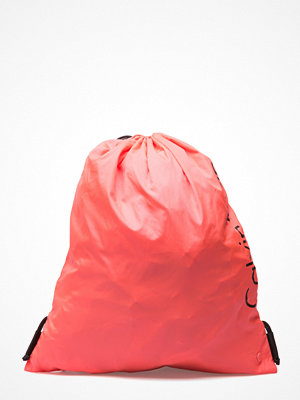 Calvin Klein röd ryggsäck med tryck Drawstring Bag
