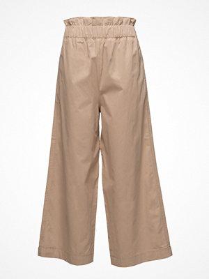 Ganni beige byxor Phillips Cotton