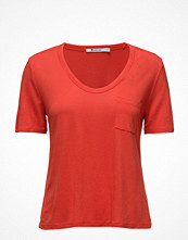T By Alexander Wang Rayon Ecosil Cropped Teewith Chest Pocket