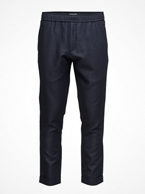 Knowledge Cotton Apparel Loose Twill Pants W/Turn Up
