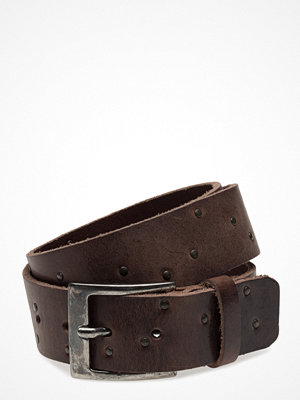 Bälten & skärp - Topeco Mens Belt 40mm With Rivets, Dark-Brown