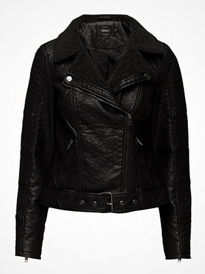 Only Onlthilde Bonded Faux Leather Biker Otw