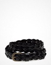 Topeco Ladies Belt Braided 15mm Nickel Free, Black