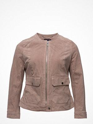 Violeta by Mango Pocket Suede Jacket