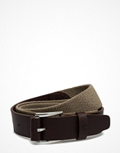 Bälten & skärp - Lee Jeans Cotton Leather Strap Safari