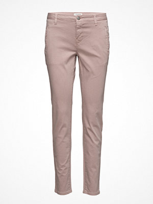 Selected Femme persikofärgade byxor Sfingrid Mr 2 Tapered Chino Adobe Noos