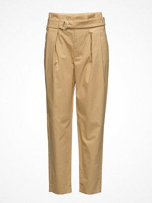 Mango Belt Cotton-Blend Trousers