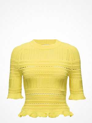 3.1 Phillip Lim Ss Compact Pointelle Lace Raglan Tee