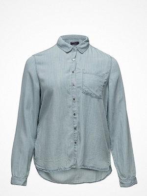 Violeta by Mango Bleached Wash Denim Shirt