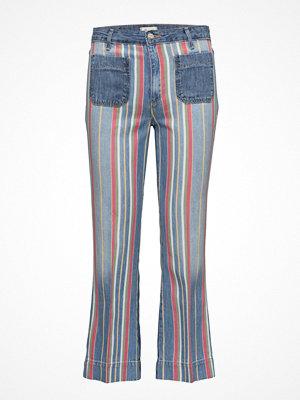 Wrangler randiga byxor Cropped Flare  Disco Stripes
