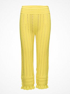 3.1 Phillip Lim gula byxor Compact Pointelle Lace Pants