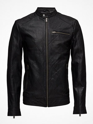 Skinnjackor - Selected Homme Shnnew Tylor Leather Jkt Noos
