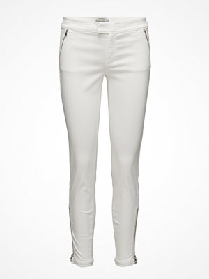 Hunkydory vita byxor Abaco Re-Do Satin Pant