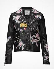 Mango Embroidered Stud Jacket