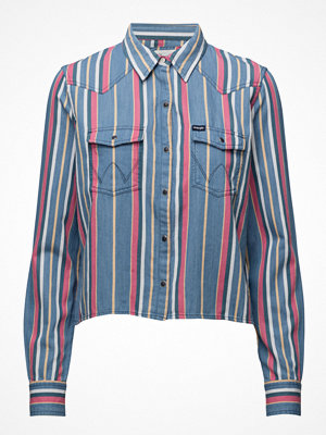 Wrangler Cropped Shirt Heritage Blue