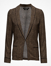 Scotch & Soda Basic Printed Drapey Blazer With Contrast Piping