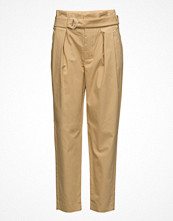 Mango Belt Cotton-Blend Trousers
