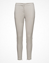Selected Femme ljusgrå byxor Sfmuse Cropped Mw Pant - Dove