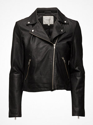 Selected Femme Sfmarlen Leather Jacket Noos