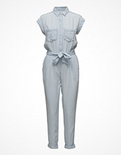 Jumpsuits & playsuits - Mango Light Denim Jumpsuit