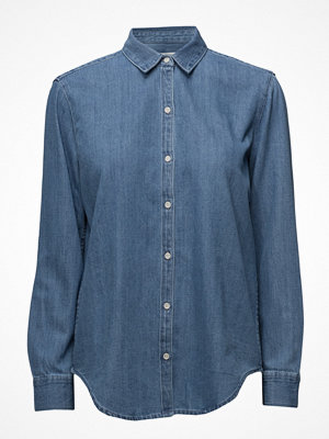 Skjortor - Mango Light Denim Shirt