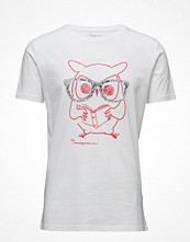 T-shirts - Knowledge Cotton Apparel Tee W/ Clever Owl Print - Gots