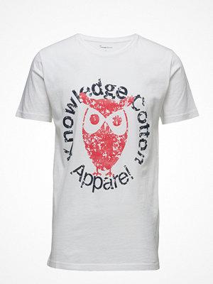 T-shirts - Knowledge Cotton Apparel Tee W/Owl Print - Gots