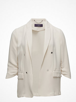 Violeta by Mango Ruched Sleeves Blazer