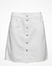 Kjolar - Only Onlfarrah Button White Dnm Skirt Bj