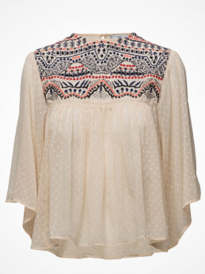 Mango Embroidered Panel Blouse