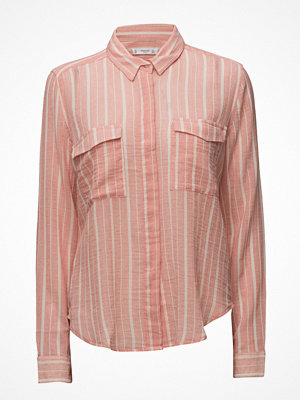Skjortor - Mango Striped Cotton Shirt