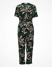 Mango Tropical Print Jumpsuit