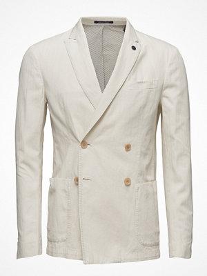 Scotch & Soda Double Breasted Blazer In Cotton/ Linen