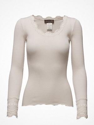 Toppar - Rosemunde Silk T-Shirt Regular Ls W/Wide Lace