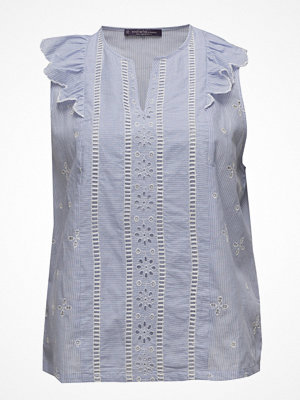 Violeta by Mango Ruffled Stripe-Patterned Blouse