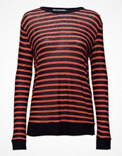 T By Alexander Wang Rayon Linen Stripe Long Sleeve Crewneck Tee