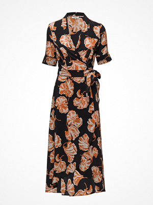Ganni Geroux Silk Wrap Dress