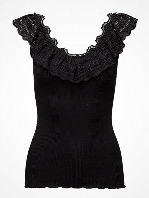 Blusar - Rosemunde Silk Top Regular Ss W/Wide Lace