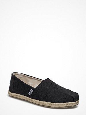 Tygskor & lågskor - Toms Black Washed Canvas Rope S Alpargata