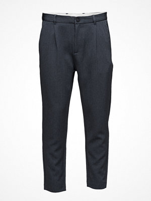 Byxor - Selected Homme Shdrich Blue Tapered Crop St Trouser