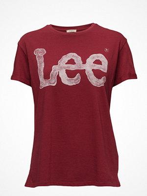 Lee Jeans Logo Tee Biking Red