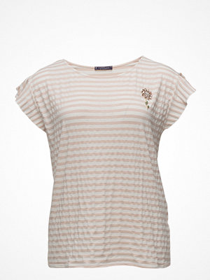 Violeta by Mango Beaded Striped T-Shirt